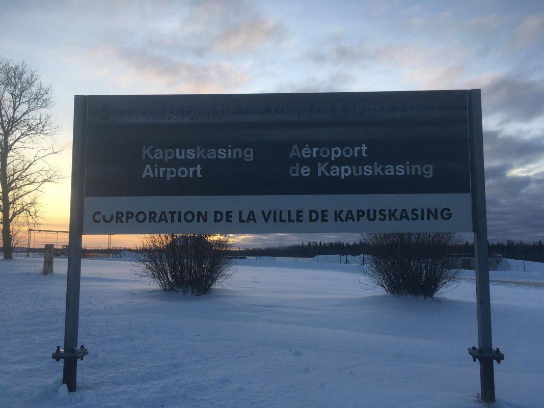 Le panneau de l'aéroport de Kapuskasing