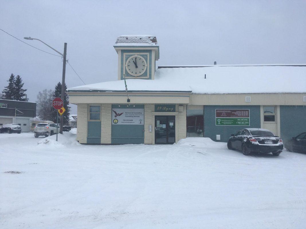 Le bâtiment des services de toxicomanie de Cochrane Nord à Kapuskasing