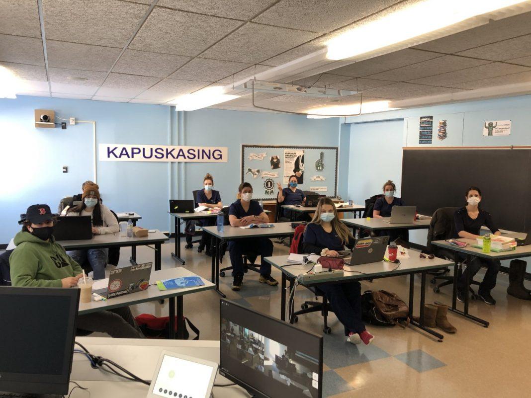 Une salle de classe au Collège Boréal